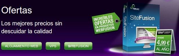 Descubre las ofertas del hosting Webfusion