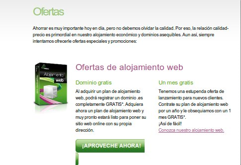 ofertas hosting Webfusion
