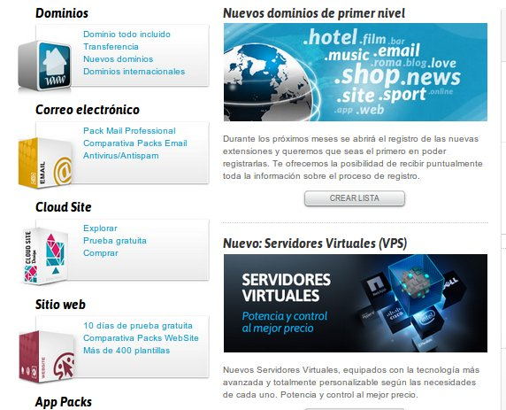 web en Nominalia