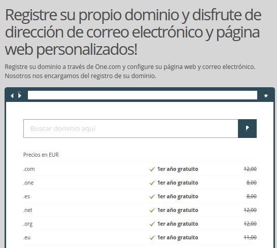 Reserva de dominios web .es