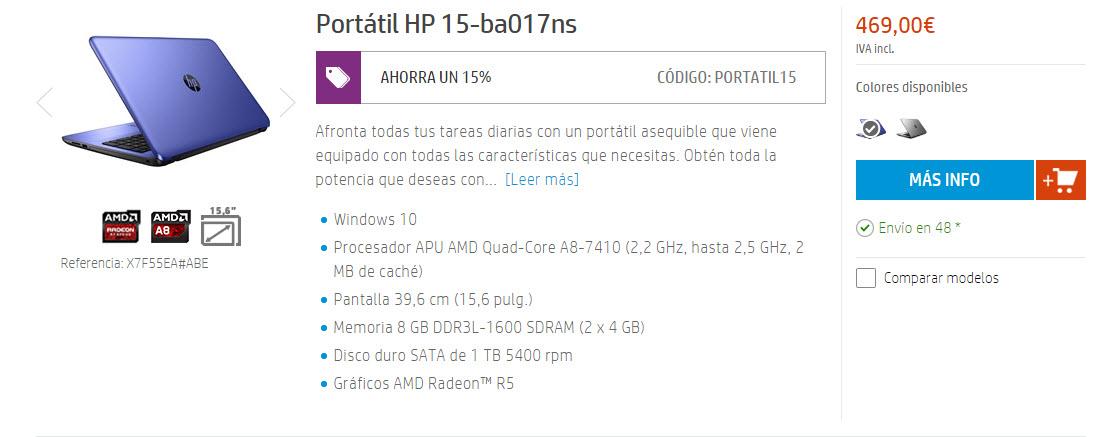 hp store portatiles